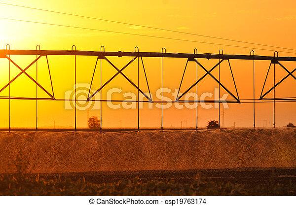 Center pivot irrigation system - csp19763174