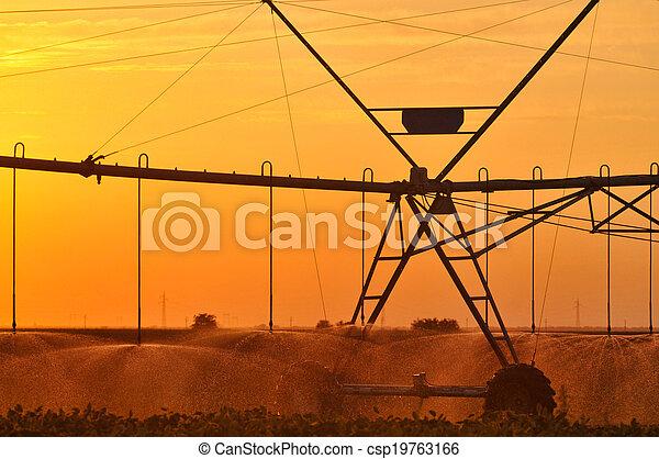 Center pivot irrigation system - csp19763166