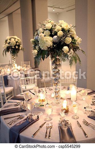 centerpiece, mottagande, bröllop - csp5545299