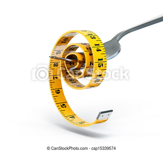centimeter on a fork - csp15339574