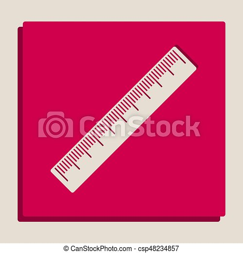 Centimeter ruler sign  Vector  Grayscale version of Popart-style icon
