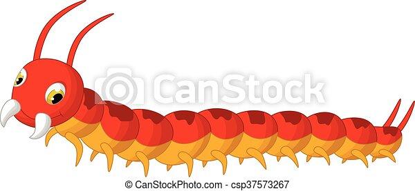 vector illustration of centipede cartoon posing clip art vector rh canstockphoto com