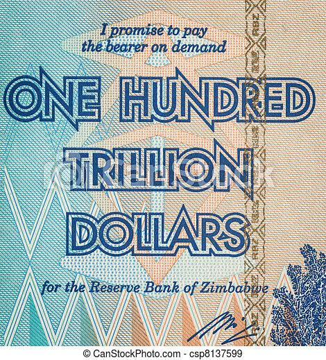 cento dollari, trillion, uno - csp8137599
