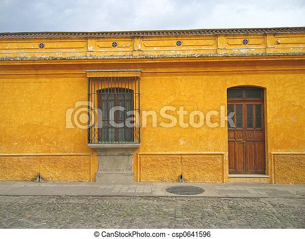 Central america house, Antigua, Guatemala - csp0641596