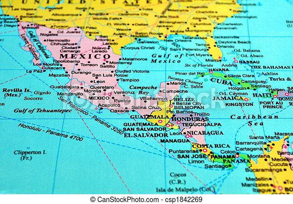 amerika karta Central amerika, map. Amerika, mellerst, många, länder, karta  amerika karta