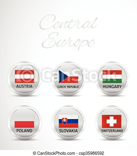 central europe flag - csp35986592