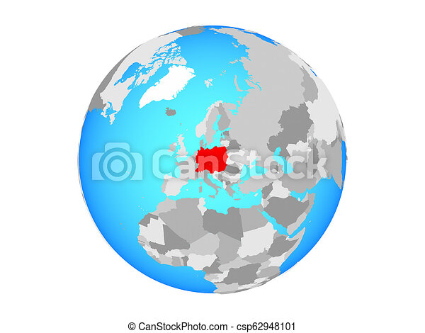 Central Europe on globe isolated - csp62948101