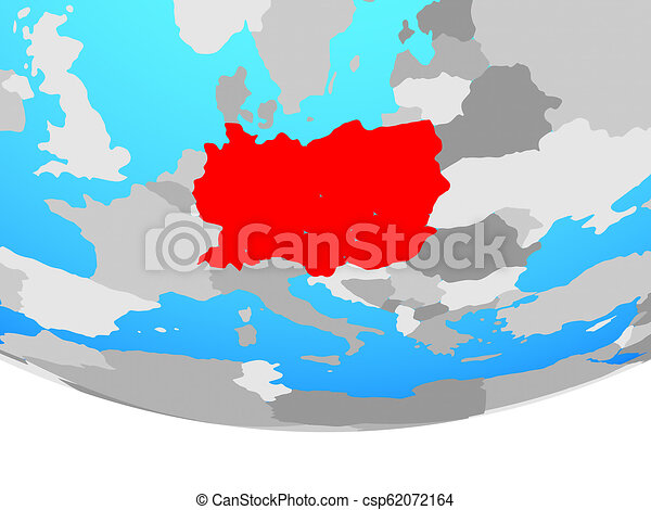 Central Europe on globe - csp62072164