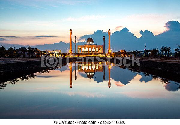 Central mosque Songkhla Thailand - csp22410820