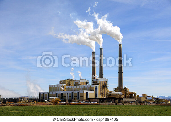 Central Utah Coal-Fired Power Plant - csp4897405