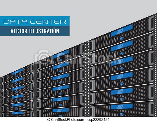 centre calculs, conception - csp22292484