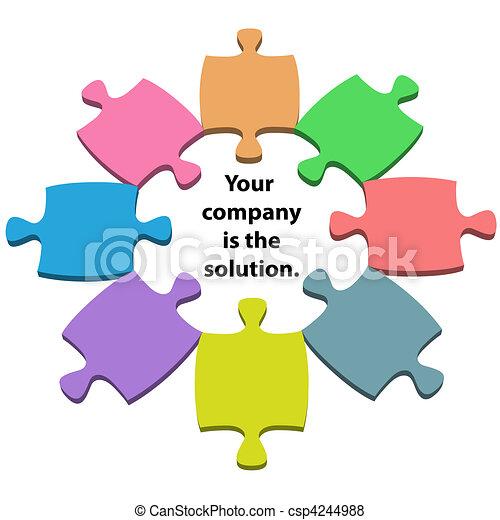centre, coloré, espace, puzzle, puzzle, solution, morceaux, copie - csp4244988