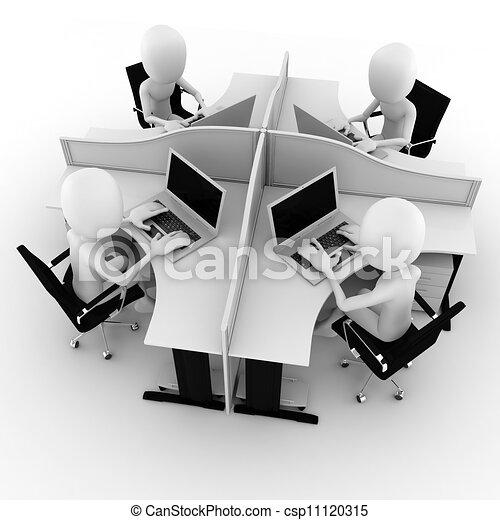 centre, isolé, appeler, blanc, homme, 3d - csp11120315