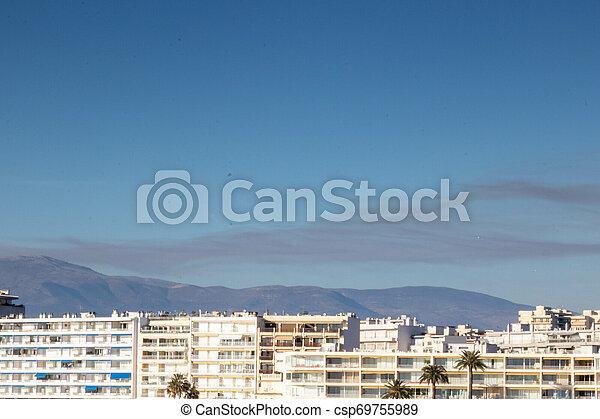 centre ville, brûler, riviera, juan, france française, les, au-dessus, epingles, provence - csp69755989