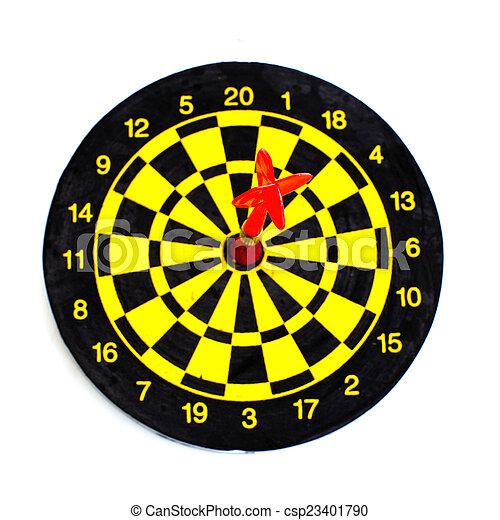 centro, aislado, uno, dardos, blanco, blanco - csp23401790