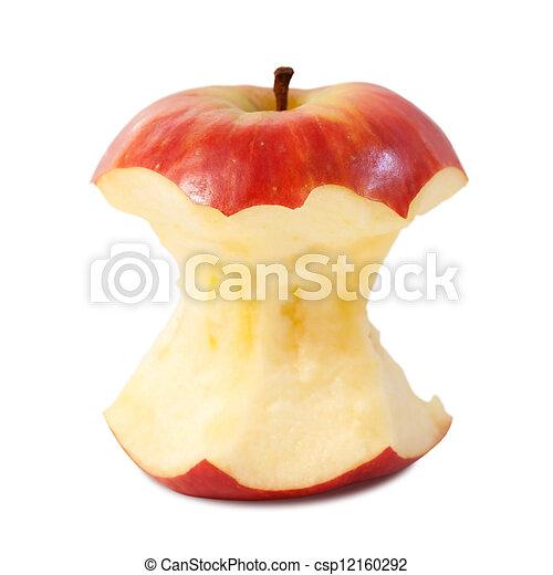 centro, bianco, mela, fondo, rosso - csp12160292