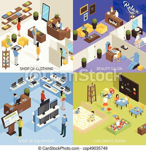 El concepto de diseño de centro comercial - csp49035749