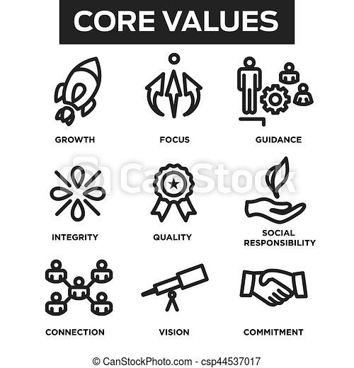 centro, contorno, icone, ditta, siti web, valori, infographics, o - csp44537017