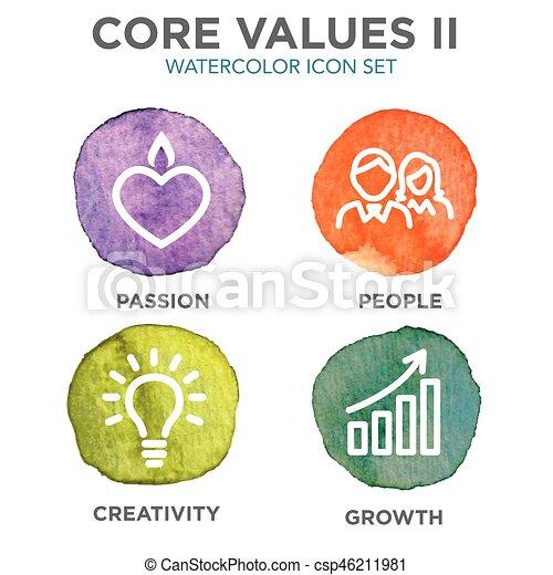 centro, contorno, icone, ditta, siti web, valori, infographics, o - csp46211981