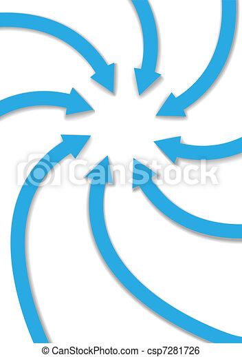 centro, espaço, curva, ponto, setas, cópia - csp7281726