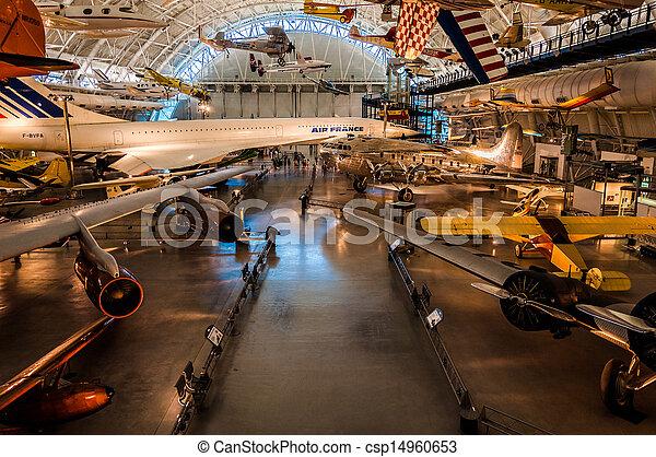 centro, espaço, virginia., museu, aviões, ar, udvar-hazy, chantilly - csp14960653