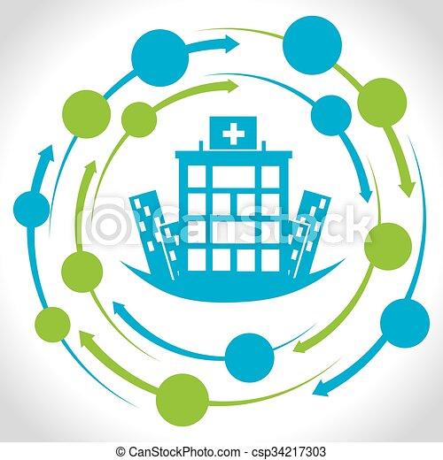 centro, medico, ospedale, disegno - csp34217303