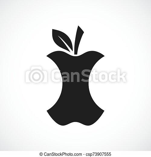 centro, mela, icona - csp73907555