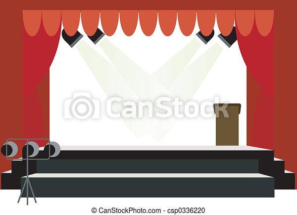 centro, palcoscenico - csp0336220