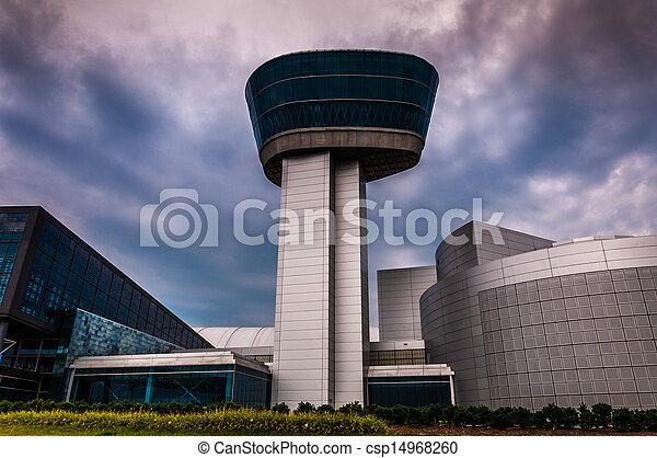 centro, tempestuoso, espaço, museu, virgínia, ar, dia, exterior, udvar-hazy, chantilly - csp14968260