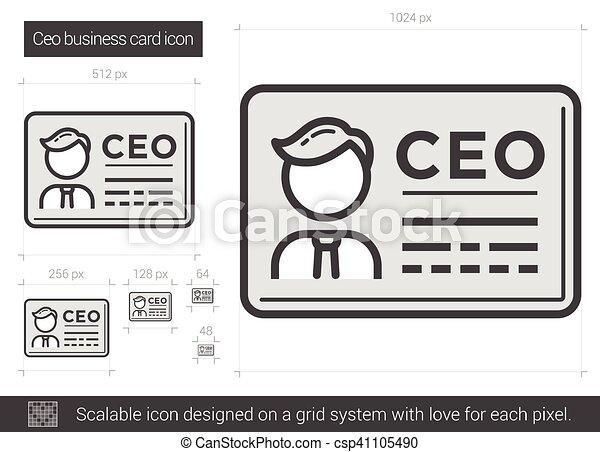 Ceo business card line icon ceo business card line icon for eps ceo business card line icon csp41105490 colourmoves