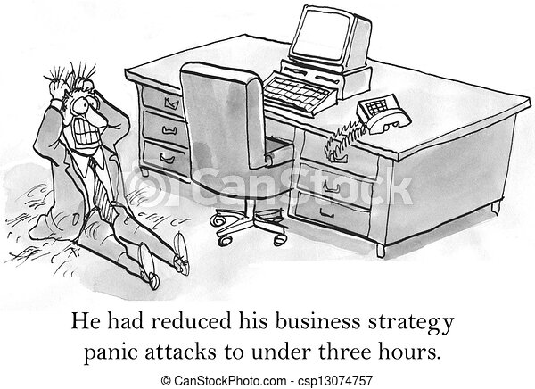 CEO has panic attacks about business strategy - csp13074757