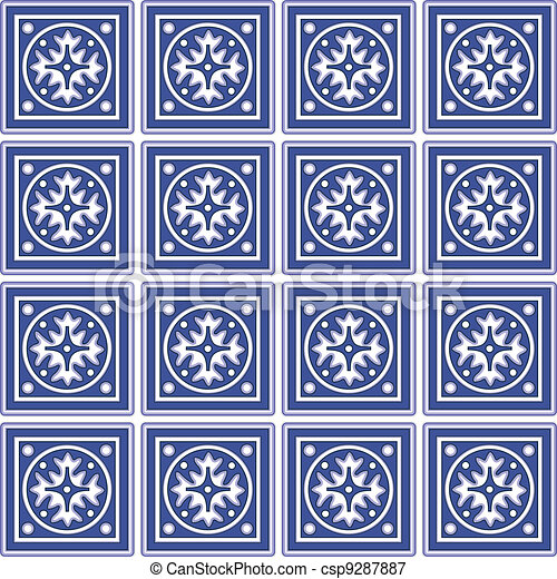 Ceramico Mexicano Seamless Azulejos Tradicional Mexicano - Azulejos-con-dibujos