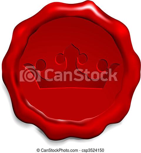 Corona en el sello de cera - csp3524150