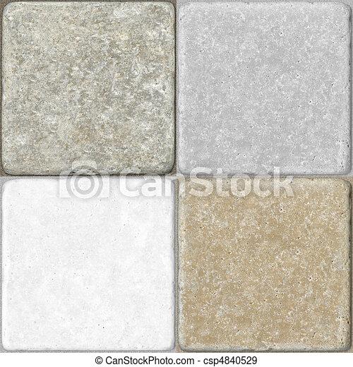 Ceramic Flooring Tiles as Seamless  - csp4840529