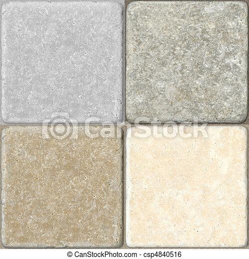 Ceramic Flooring Tiles as Seamless  - csp4840516