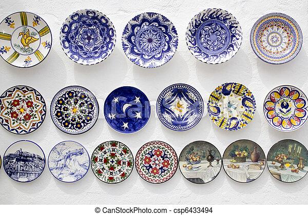 ceramic plates crafts Mediterranean Ibiza - csp6433494  sc 1 st  Can Stock Photo & Ceramic plates crafts mediterranean ibiza. Ceramic plates decorated ...