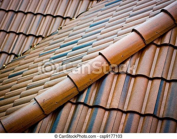 Ceramic roofing tiles - csp9177103