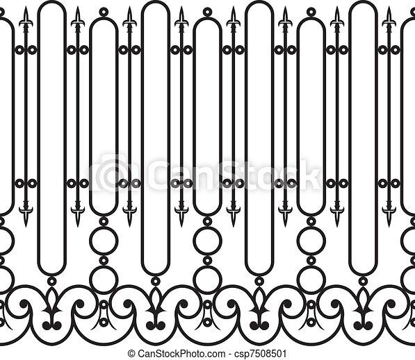 cerca, ferro forjado, seamless - csp7508501