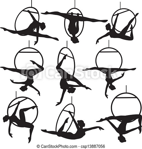 cerceau, acrobate aérien - csp13887056