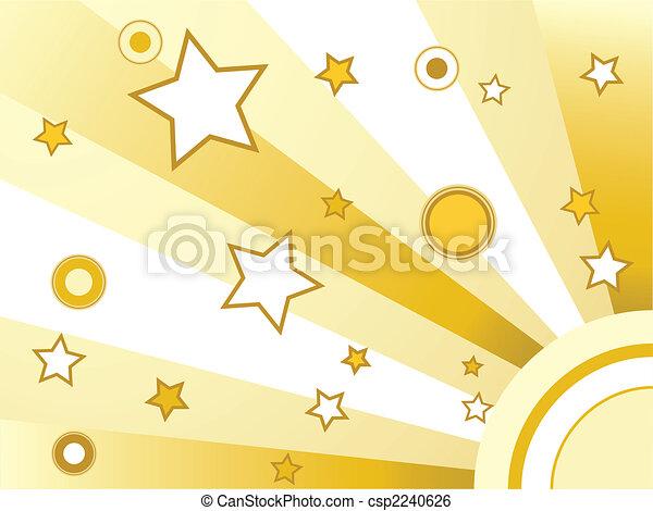 cerchi, stelle, fondo - csp2240626