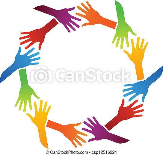 Cerchio Amicizia Gruppo Handshakings
