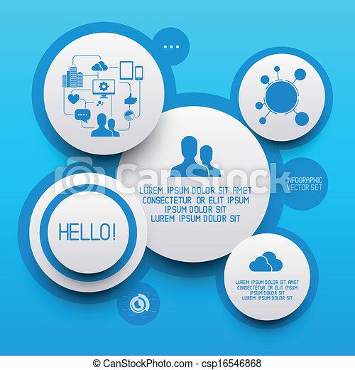 cerchio, infographic, pulito, elementi - csp16546868