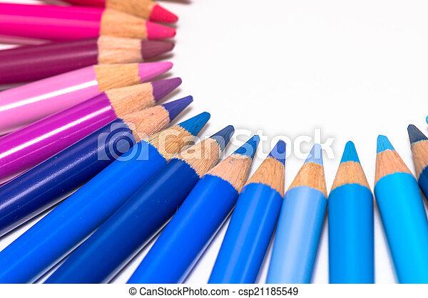 cerchio, pastelli, colorito - csp21185549