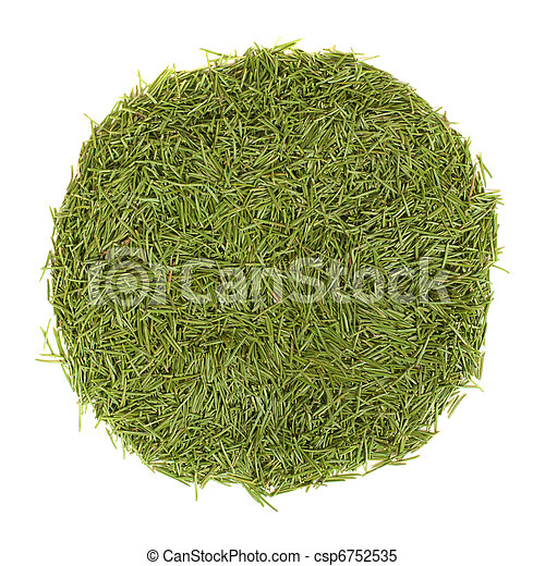 cercle, aiguilles, vert, pile - csp6752535
