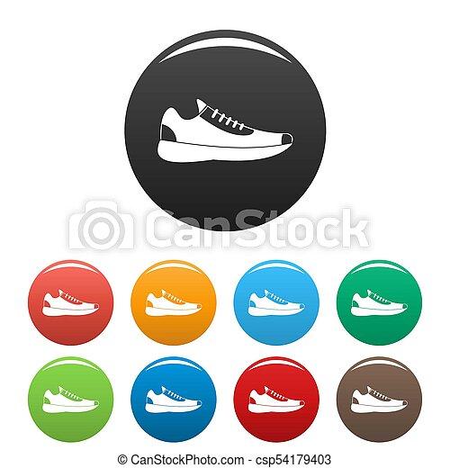 cercle, ensemble, espadrilles, collection, icônes - csp54179403
