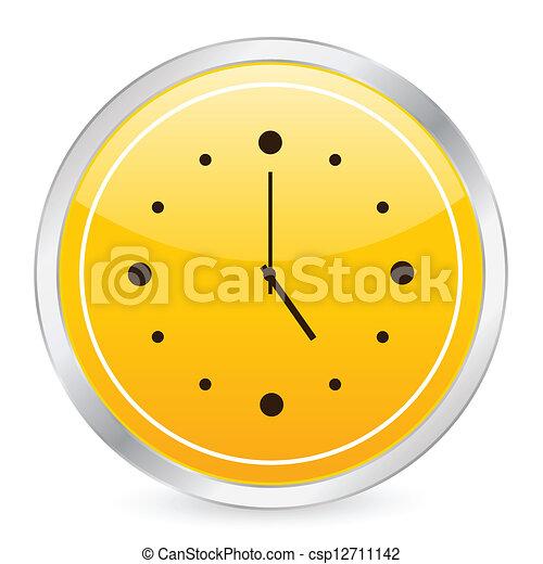 cercle horloge jaune ic244ne illustration horloge