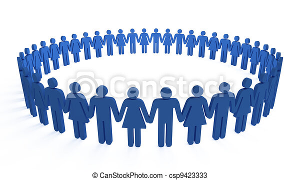 cercle, humain - csp9423333