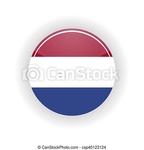 cercle, pays-bas, icône - csp40123124
