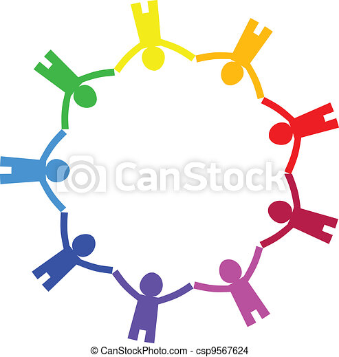 cercle, vecteur, -, icône, gens - csp9567624