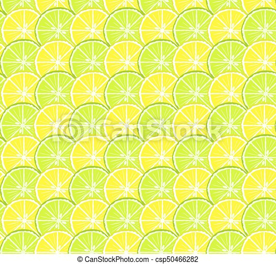 cercles, citron, citrus, modèle, seamless, clair, chaux - csp50466282